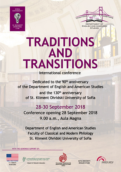 Sofia University Conference~Traditions and Transitions poster